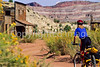 Mountain biker; Old West Paria movie set in Utah -25 - 72 ppi