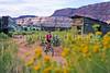 Mountain biker; Old West Paria movie set in Utah -26 - 72 ppi