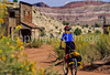 Mountain biker; Old West Paria movie set in Utah -29 - 72 ppi