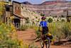 Mountain biker; Old West Paria movie set in Utah -29 - 72 ppi