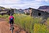 Mountain biker; Old West Paria movie set in Utah -34 - 72 ppi