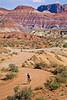 Mountain biker; Old West Paria movie set in Utah -19 - 72 ppi