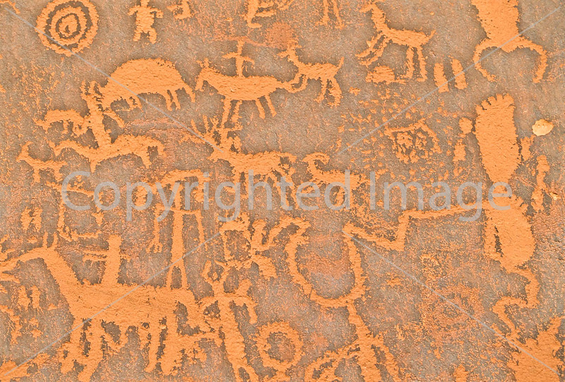 Petroglyph - Newspaper Rock in Indian Creek State Park in southern Utah - 5 - 72 ppi