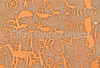 Petroglyph - Newspaper Rock in Indian Creek State Park in southern Utah - 5 - 72 ppi