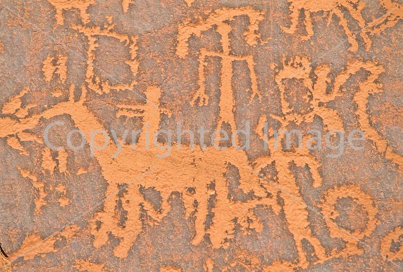 Petroglyph - Newspaper Rock in Indian Creek State Park in southern Utah - 6 - 72 ppi