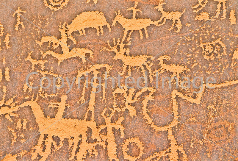 Petroglyph - Newspaper Rock in Indian Creek State Park in southern Utah - 4 - 72 ppi