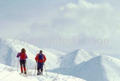 SN ut wstc 36 - ORps - Snowshoers in Utah's Wasatch Mountains near Salt Lake City, Utah - 72 ppi