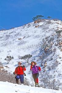 SN ut wstc 39 - ORps - Snowshoers in Utah's Wasatch Mountains near Salt Lake City, Utah - 72 ppi