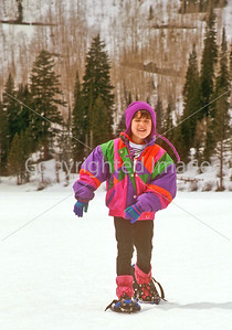 SN ut wstc 15 - ORps - Young snowshoer in Utah's Wasatch Mountains, up Big Cottonwood Canyon near Salt Lake City - 72 ppi