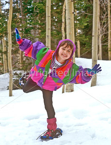 SN ut wstc 17 - ORps - Young snowshoer in Utah's Wasatch Mountains, up Big Cottonwood Canyon near Salt Lake City - 72 ppi