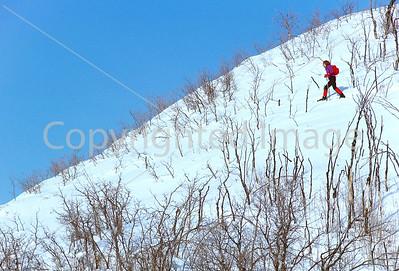 SN ut wstc 31 - ORps - Snowshoer in Utah's Wasatch Mountains near Salt Lake City, Utah - 72 ppi