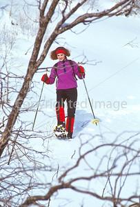 SN ut wstc 29 - ORps - Snowshoer in Utah's Wasatch Mountains near Salt Lake City, Utah - 72 ppi