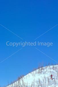 SN ut wstc 33 - ORps - Snowshoer in Utah's Wasatch Mountains near Salt Lake City, Utah - 72 ppi