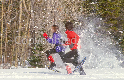 SN ut wstc 10 - ORps - Snowshoers in Utah's Wasatch Mountains, up Little Cottonwood Canyon near Salt Lake City - 72 ppi