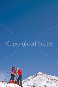 SN ut wstc 34 - ORps - Snowshoers in Utah's Wasatch Mountains near Salt Lake City, Utah - 72 ppi