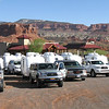 Staging area for our caravan to Escalante