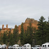 Casita staging area at the Red Canyon Visitors Center for our caravan to Zion