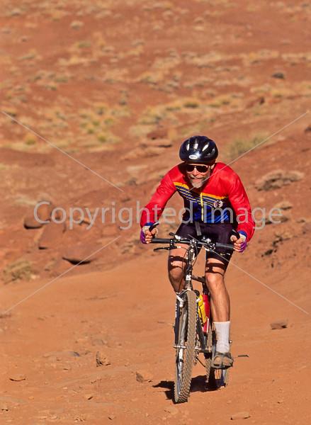 Mountain biker(s) on White Rim Trail - 367#2 - 72 ppi