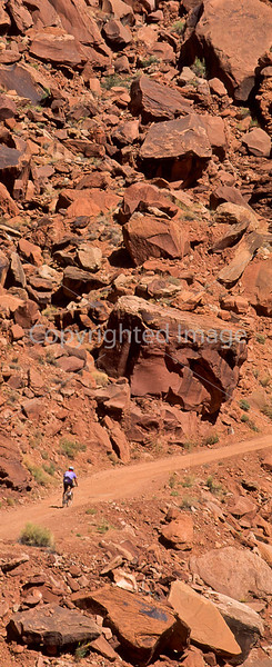 Mountain biker(s) on White Rim Trail - 328#2 - 72 ppi
