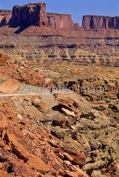 Mountain biker(s) on White Rim Trail - 365 - 72 ppi