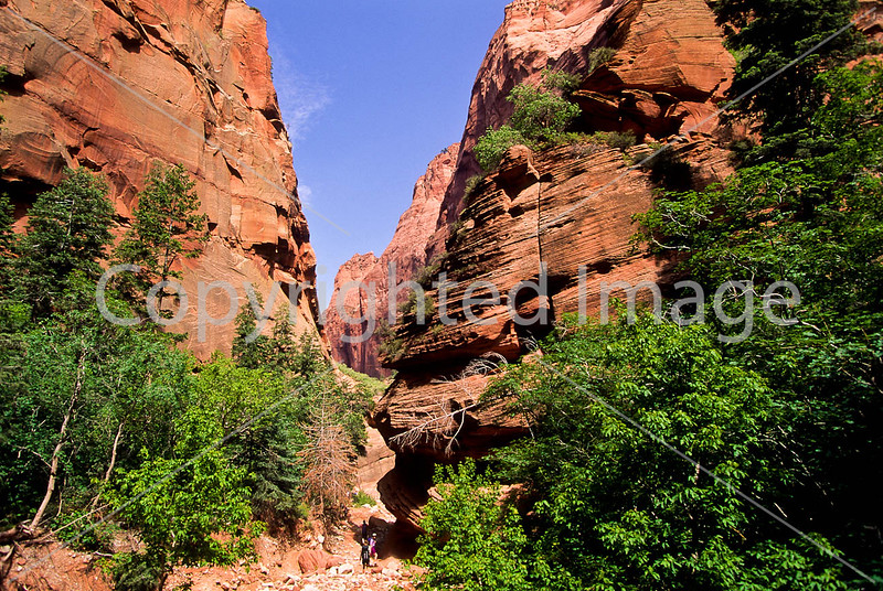 Hikers in Zion National Park, Utah - S11 - 28 - 72 ppi