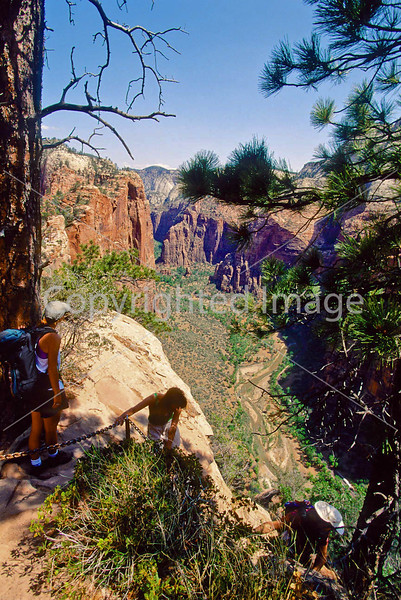 Hikers in Zion National Park, Utah - S11 - 242 - 72 ppi