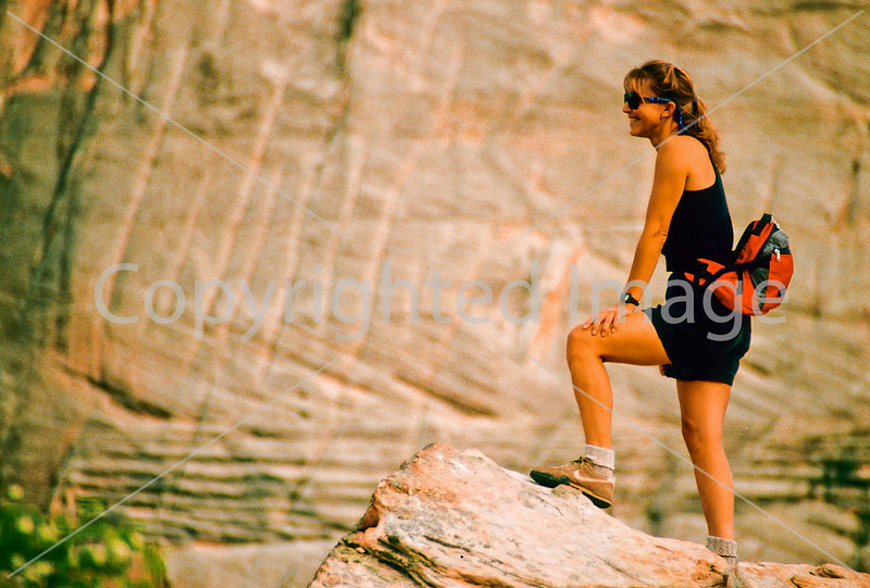 Hikers in Zion National Park, Utah - S11 - 227 - 72 ppi