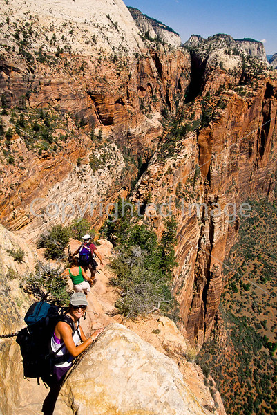 Hikers in Zion National Park, Utah - S11 - 260 - 72 ppi
