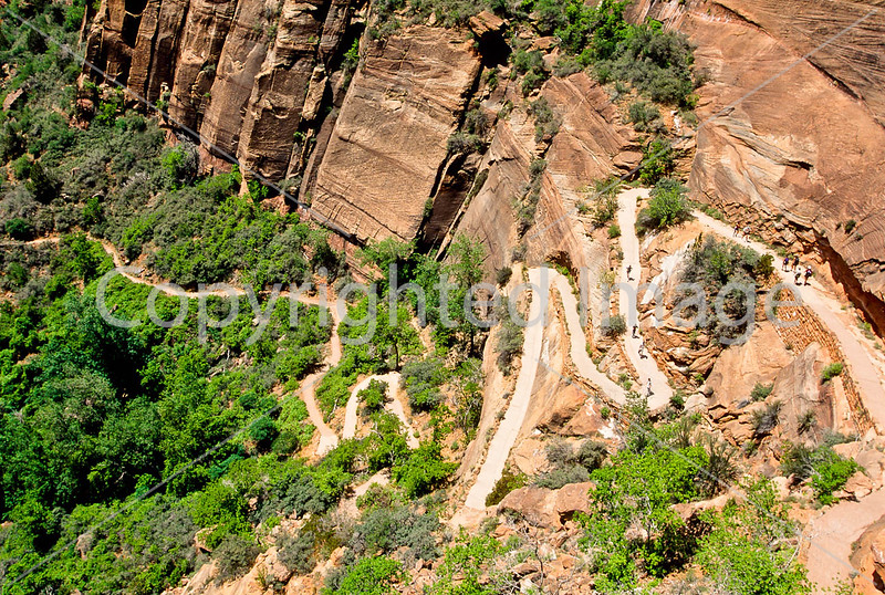 Hikers in Zion National Park, Utah - S11 - 256 - 72 ppi