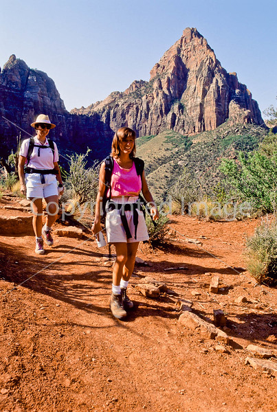 Hikers in Zion National Park, Utah - S11 - 308 - 72 ppi