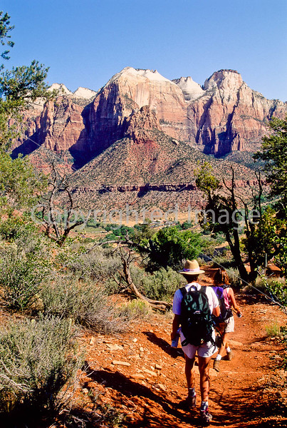 Hikers in Zion National Park, Utah - S11 - 114 - 72 ppi