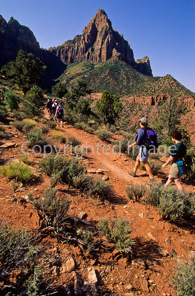 Hikers in Zion National Park, Utah - S11 - 87 - 72 ppi