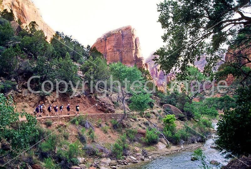 Hikers in Zion National Park, Utah - S11 - 34-Edit - 72 ppi
