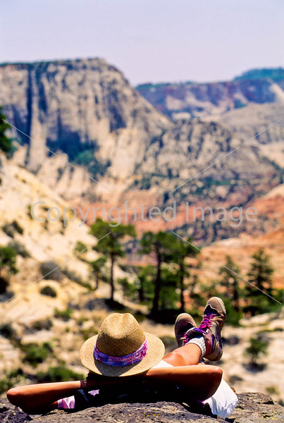 Hikers in Zion National Park, Utah - S11 - 130 - 72 ppi
