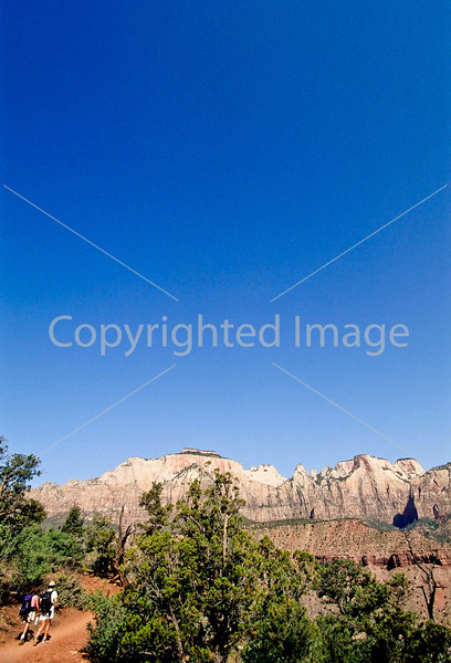 Hikers in Zion National Park, Utah - S11 - 251 - 72 ppi