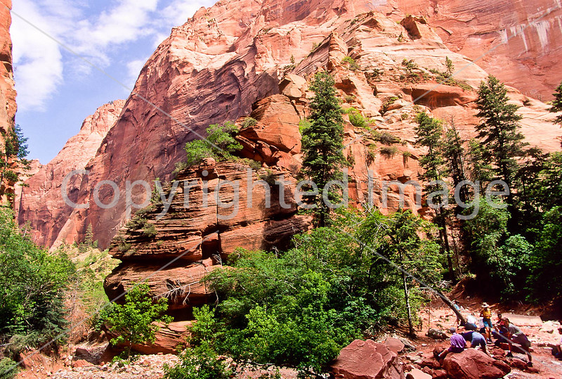 Hikers in Zion National Park, Utah - S11 - 38 - 72 ppi