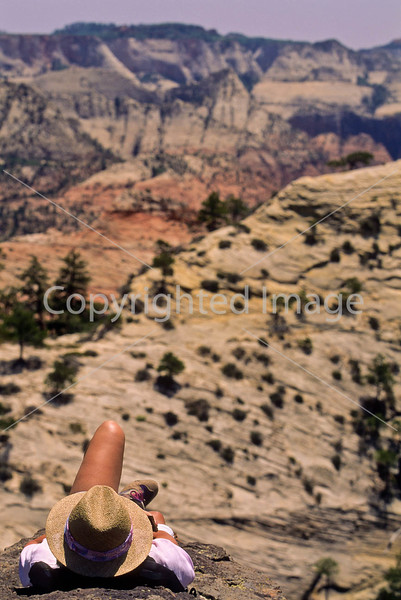 Hikers in Zion National Park, Utah - S11 - 93 - 72 ppi