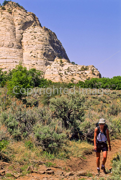 Hikers in Zion National Park, Utah - S11 - 51 - 72 ppi