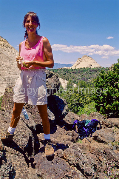 Hikers in Zion National Park, Utah - S11 - 194 - 72 ppi