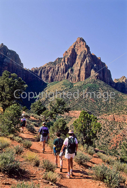 Hikers in Zion National Park, Utah - S11 - 326 - 72 ppi