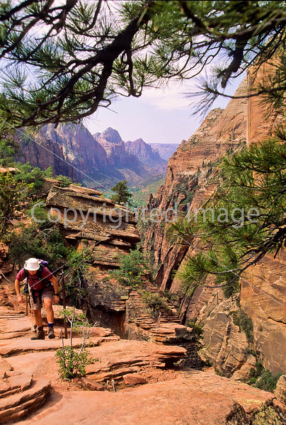Hikers in Zion National Park, Utah - S11 - 77 - 72 ppi