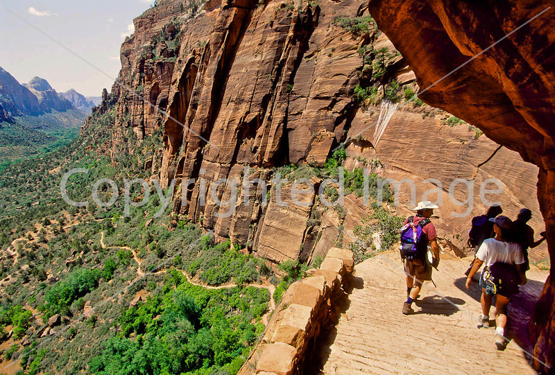 Hikers in Zion National Park, Utah - S11 - 261 - 72 ppi