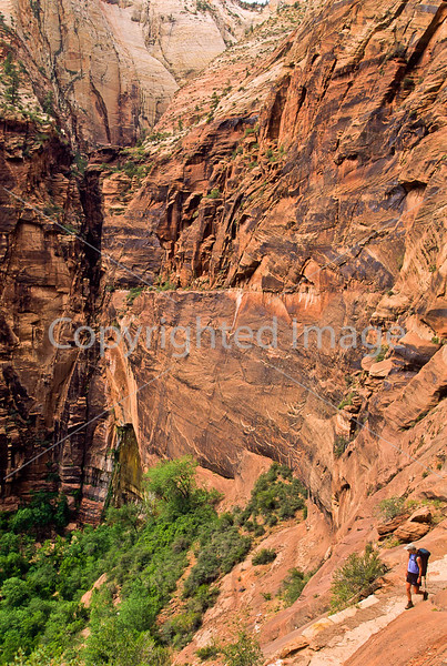 Hikers in Zion National Park, Utah - S11 - 59 - 72 ppi