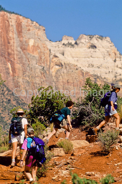 Hikers in Zion National Park, Utah - S11 - 229 - 72 ppi