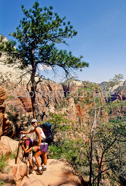 Hikers in Zion National Park, Utah - S11 - 259 - 72 ppi