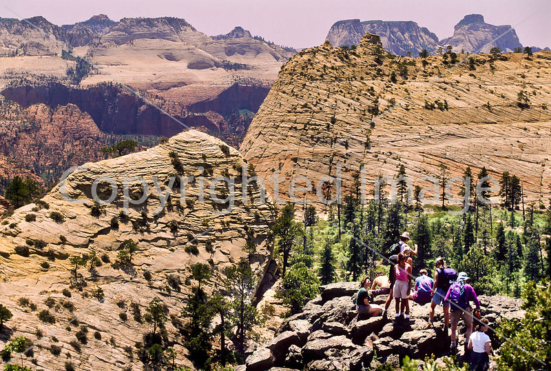 Hikers in Zion National Park, Utah - S11 - 12 - 72 ppi