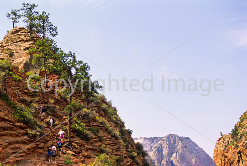 Hikers in Zion National Park, Utah - S11 - 15 - 72 ppi