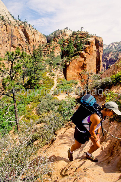 Hikers in Zion National Park, Utah - S11 - 106 - 72 ppi
