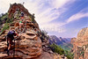 Hikers in Zion National Park, Utah - S11 - 10 - 72 ppi