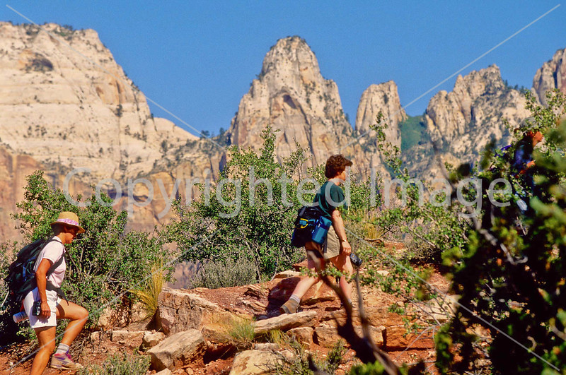 Hikers in Zion National Park, Utah - S11 - 200 - 72 ppi